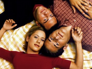 Traylor Howard, Richard Ruccolo and Ryan Reynolds (clockwise from left)